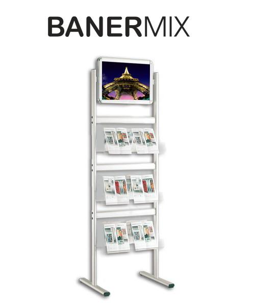 стелаж за брошури с хоризонтална снап рамка http://banermix.com/