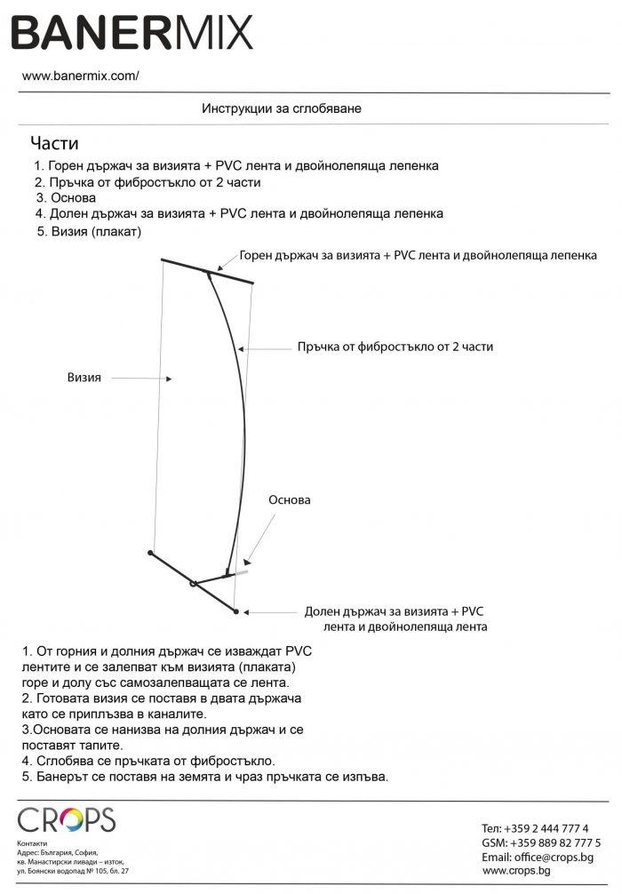 инструкция за сглобяване на L банер