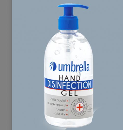 Биоциден гел дезинфектант за ръце 500 мл.